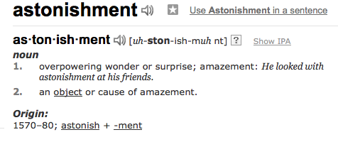 astonishment